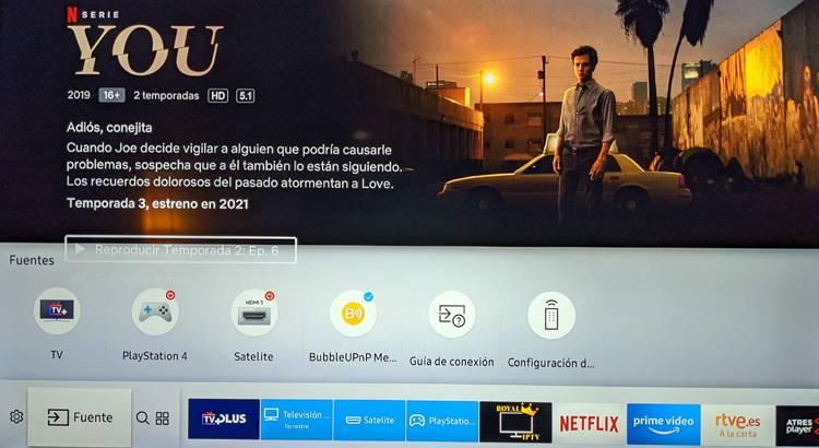 Smart Tv conectada a servidor UPnP