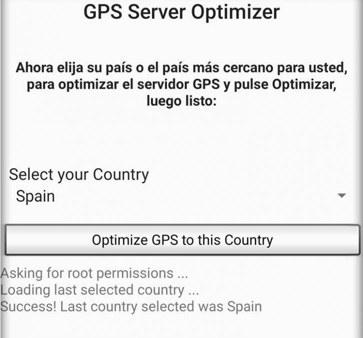 Optimizar GPS parael país