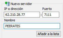 añadir un servidor a eMule