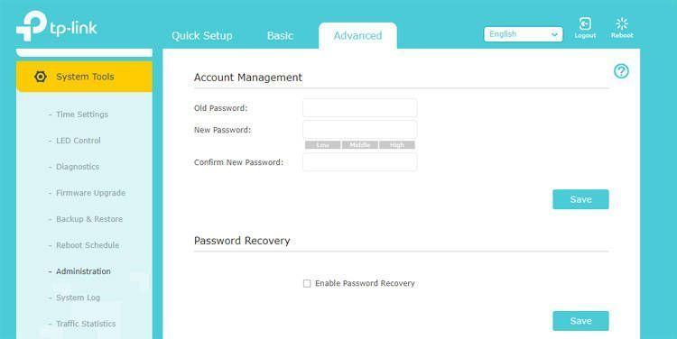 Cambiar la contraseña de acceso al router Tp Link
