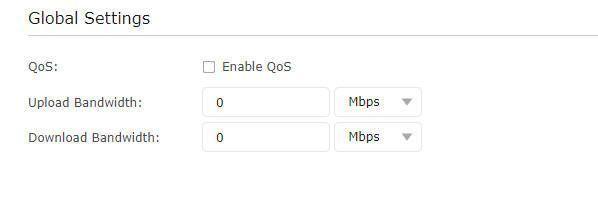 Configuración Global de QoS en un router Tp-Link Archer C6