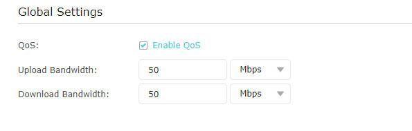 Activar QoS en el router Tp-Link para activar el servicio