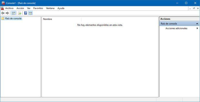 MMC de Windows 10
