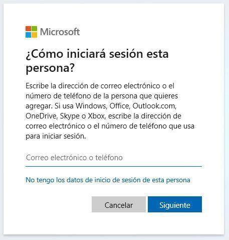 ¿Cómo iniciará sesión el nuevo usuario de Windows 10?