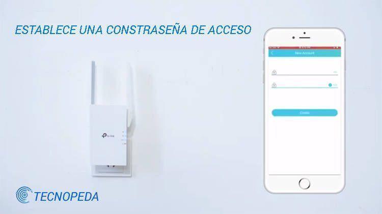 Imagen de la pantalla de la aplicación donde debes establecer una contraseña