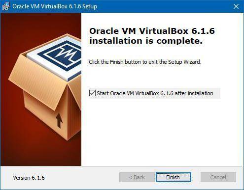 Oracle VM Virtualbox se ha instalafdo en tu ordenador