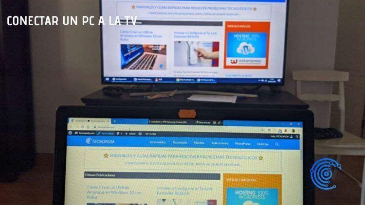 Ordenador portátil conectado a una Smart Tv Samsung sin cables