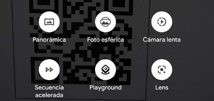 Botón de acceso a la utilidad de Google Lens desde la cámara de un Pixel 4 XL