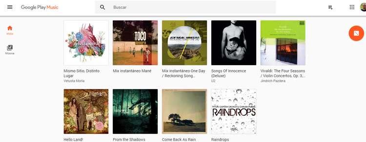 Música comprada o añadida a Google Play Music