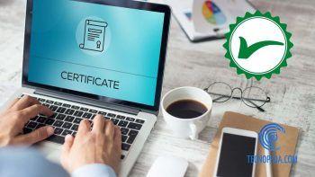 Ordenador con certificado digital instalado