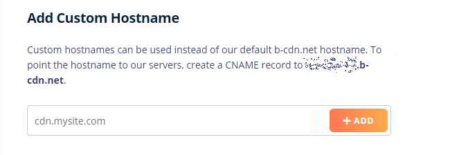 Añadir un nombre de host CDN personalizado