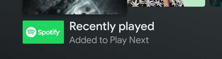 Añadir listas de Spotify a Play Next de Android tv