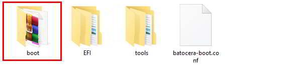 Comprueba que aparece la carpeta Boot en el USB
