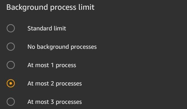 Limitar los procesos en segundo plano