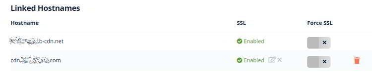 Nombre de host enlazado al Cname creado en el dominio