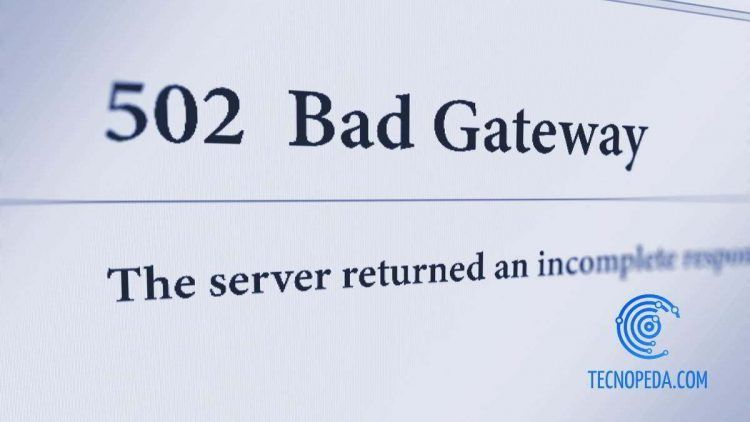 Error 502 en un navegador web