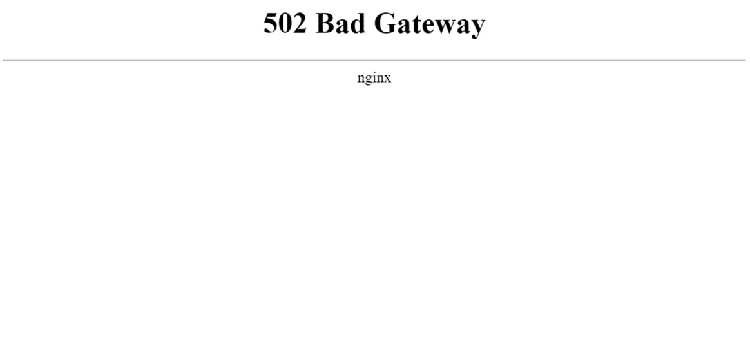 Error 502 Bad Gateway al acceder a una web