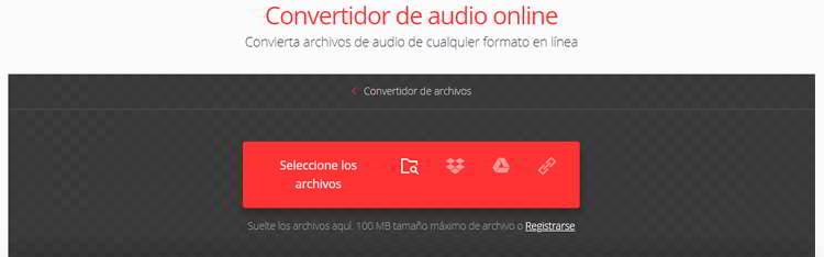 convertir audios a mp3 utilizando convertio.co