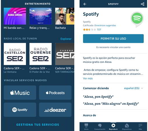 Vincular Spotify a Alexa