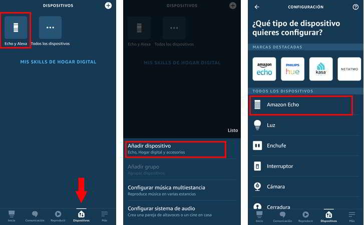 Vincular Amazon Alexa Echo Dot