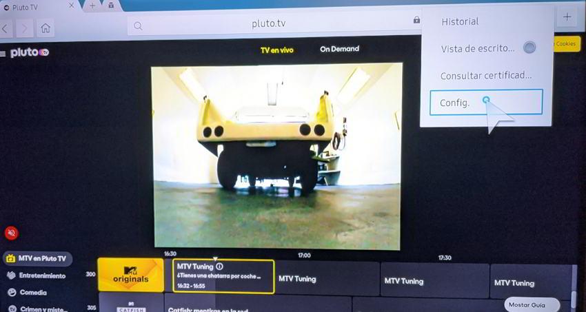 Configurar navegador en Samsung Smart tv
