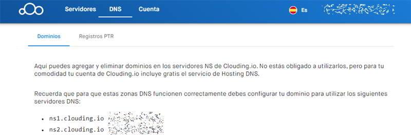 DNS de clouding
