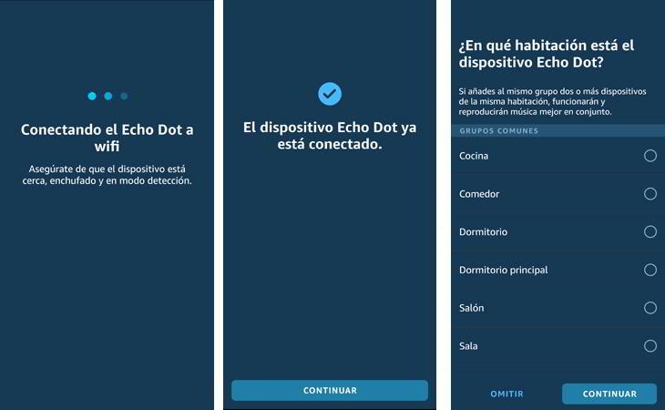 Echo dot conectado al wifi
