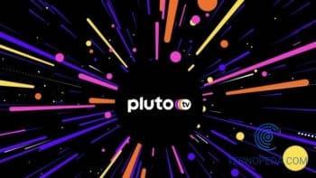 Logo de Pluto Tv sobre fondo negro