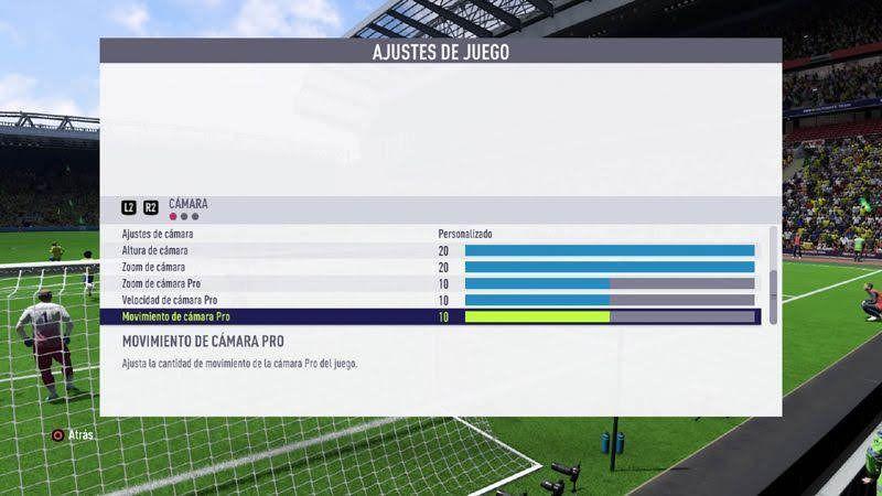 Configurar la mejor cámara para jugar al Fifa 21