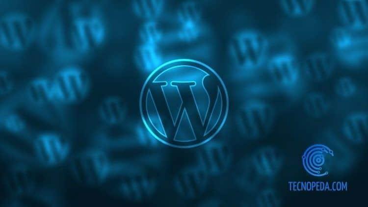 Logotipo de Wordpress sobre fondo oscuro