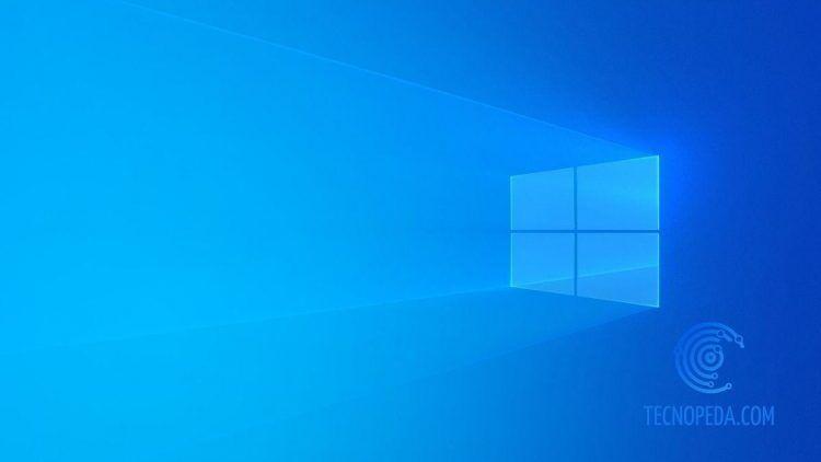Logotipo de Windows 10 sobre fondo azul