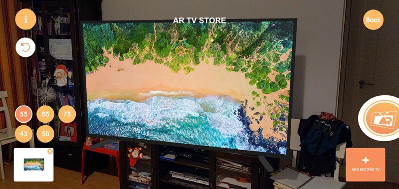 Comprobar el tamaño de un televisor Samsung