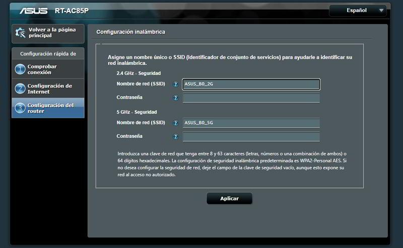 Configurar la WiFi del Asus AC2400