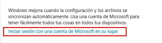 Inciar sesión en Microsoft con tu perfil de usuario de Windows 10