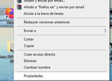 acceso directo de firefox
