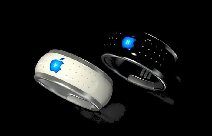 dibujo del posible anillo inteligente de apple