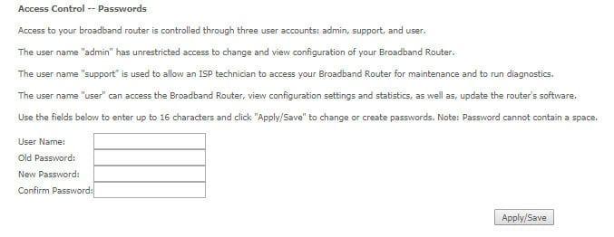 cambiar la contraseña de acceso al router