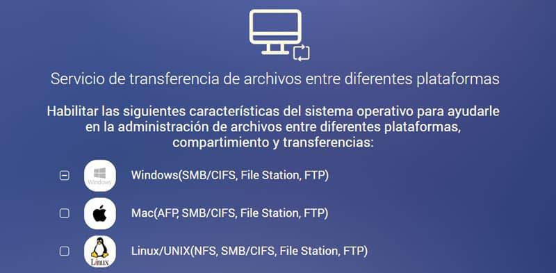 transferencia de archivos desde distintas plataformas