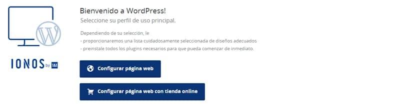 configurar página web