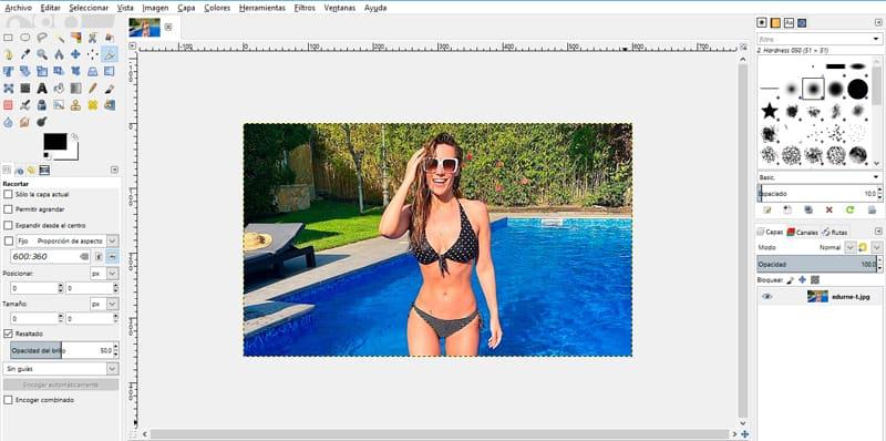eliminar el fondo de una imagen con GIMP