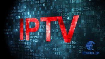 Letras IPTV en rojo