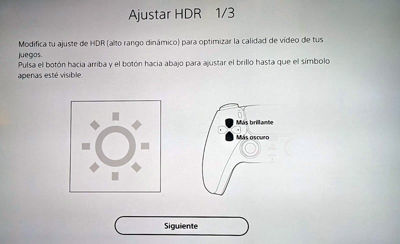 Ajustar HDR en PS5