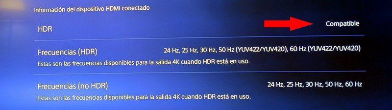 resolución HDR en PS5 compatible
