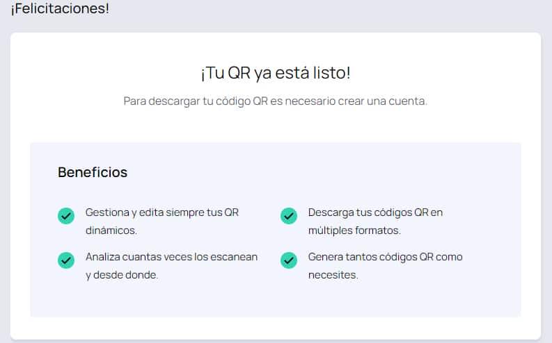 Descargar código qr