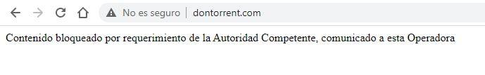 acceso a la web de DonTorrent bloqueado por la operadora