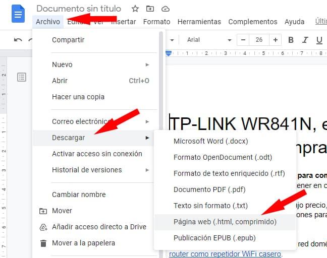 descargar y guardar imágenes de google Docs