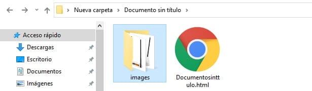 imágenes descargadas de un documento