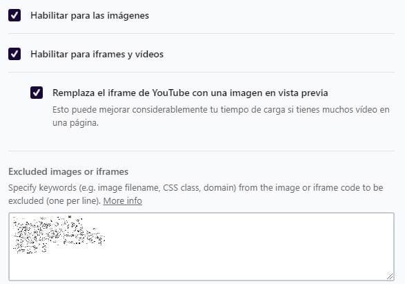 evitar el CLS con lazyload en imagenes con Wp Rocket