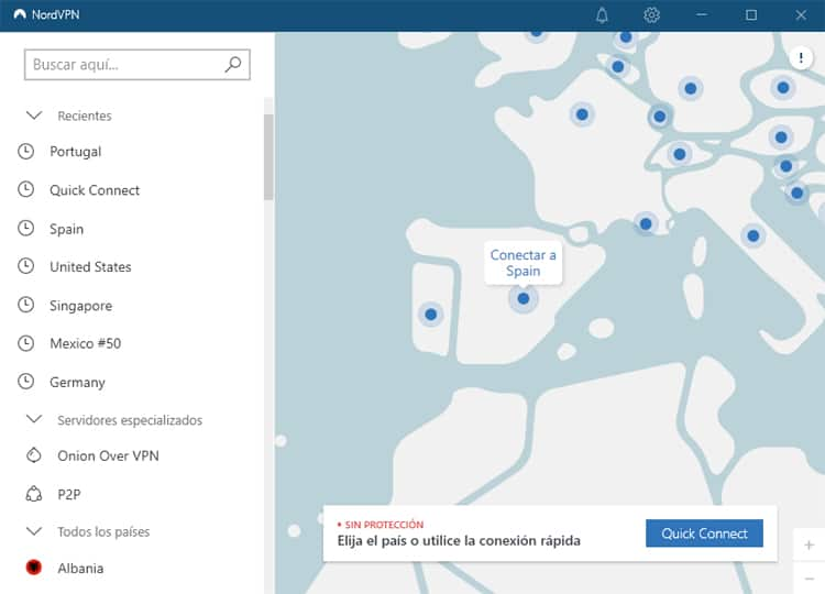Conexión a servidor VPN de España para ver gratis los juegos olímpicos
