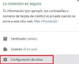 solucionar errores de roblox con la configuración de sitios en el navegador
